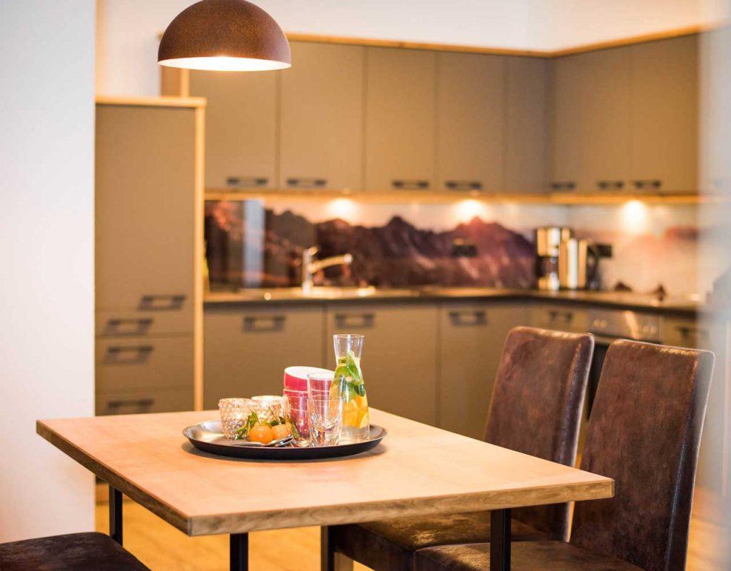 Ferienwohnung stoanmandl - Neustift im Stubaital - Küche im Appartement